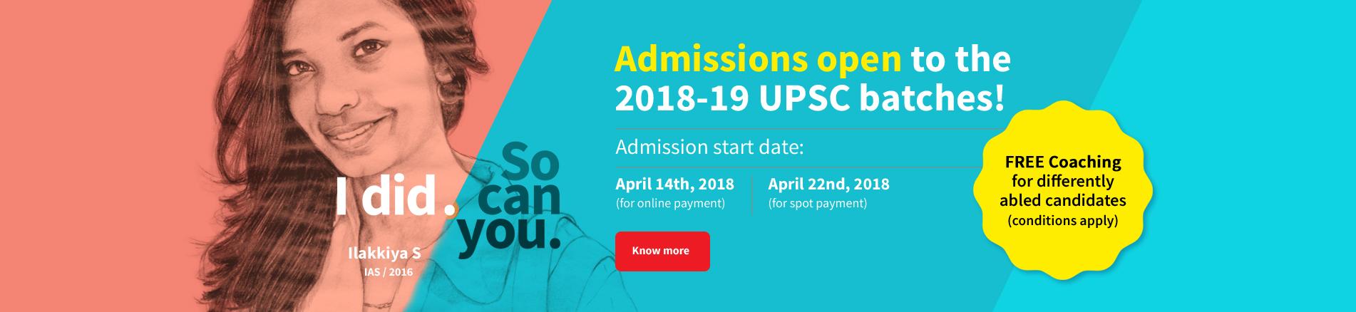 Admissions 2018