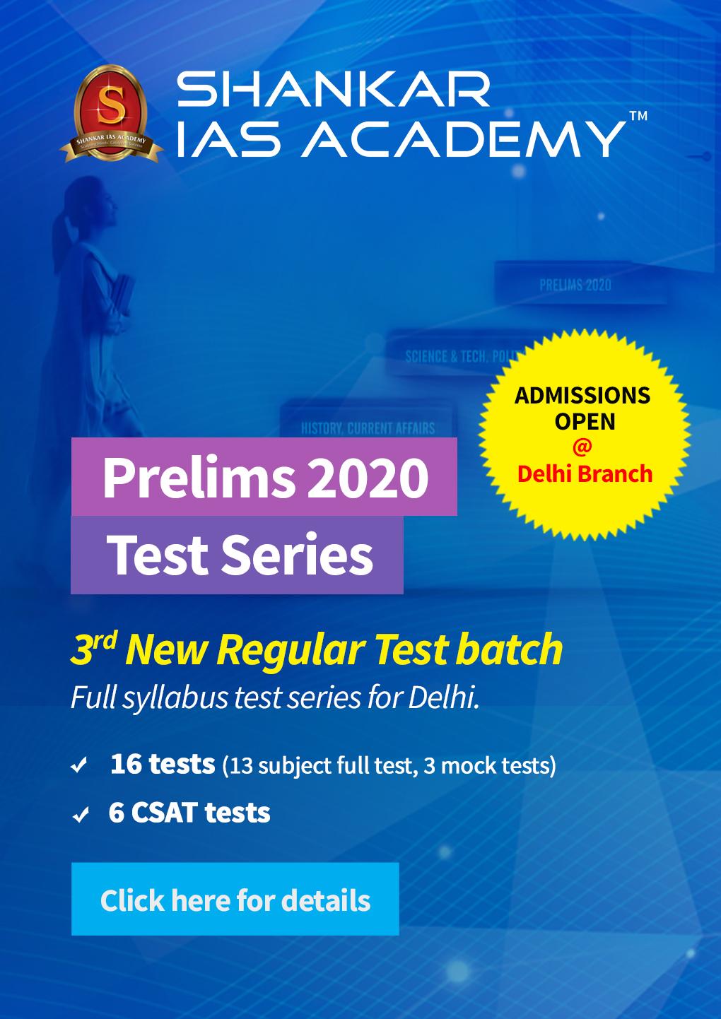 Prestorming Prelims 2020 - Delhi