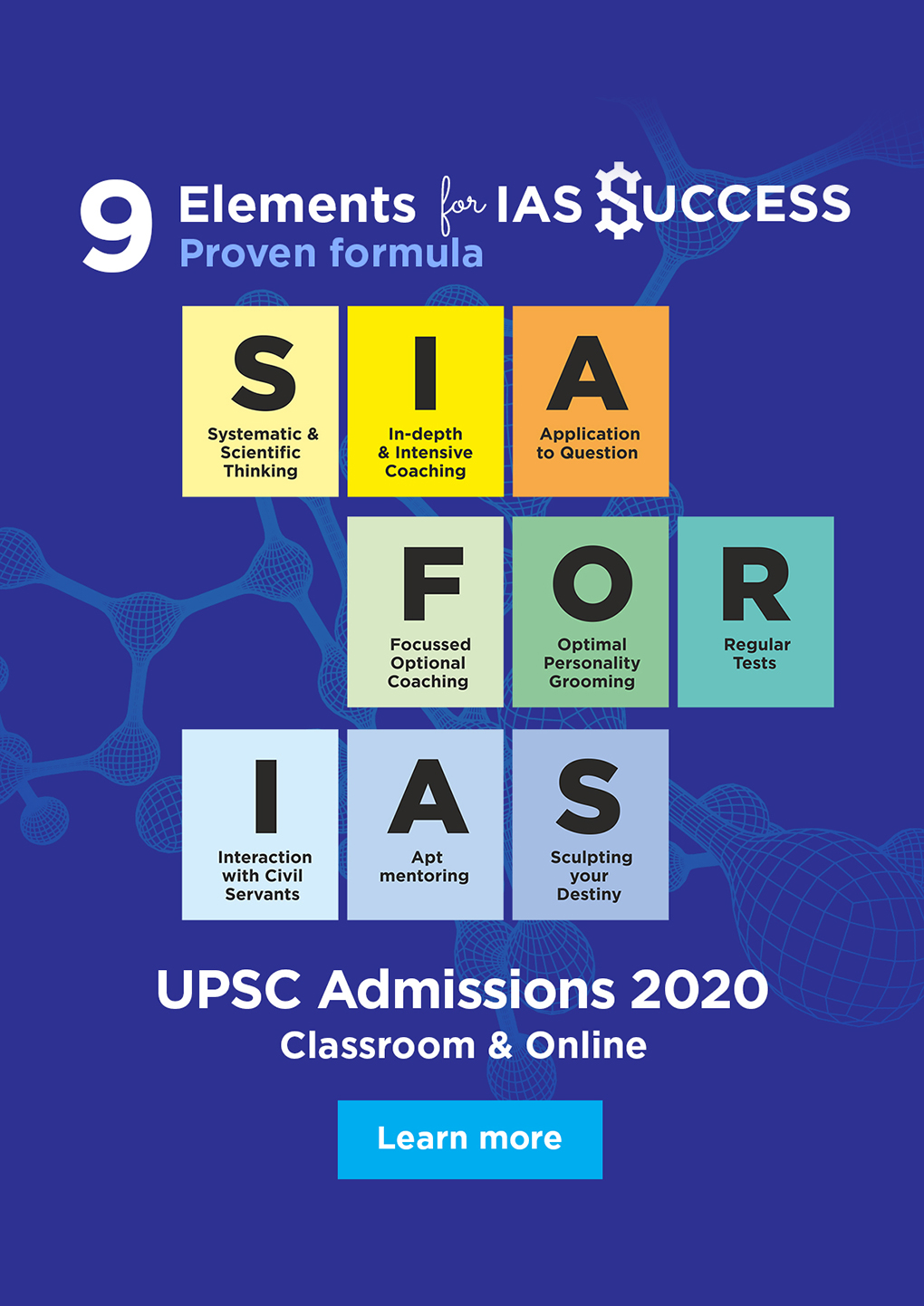 SIA for IAS - Admissions 2020