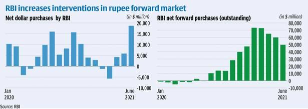 RBI Net Purchasal of Dollar