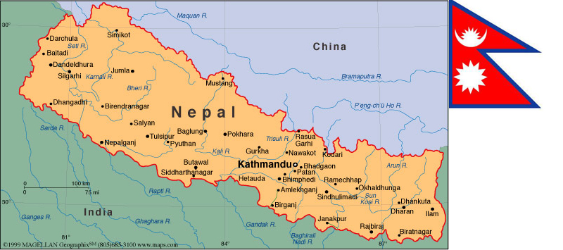 Nepalmapjpg - What country is nepal in